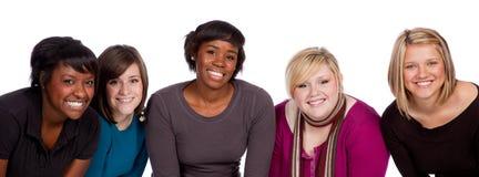 Groep multi-racial studenten Stock Afbeelding