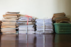Groep oud document, handboek en blad Royalty-vrije Stock Foto
