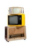 Groep oude uitstekende eletronic Royalty-vrije Stock Afbeelding