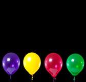 Groep partijballons op zwarte royalty-vrije illustratie
