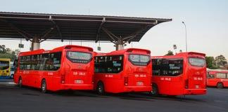 Groep Phuong Trang-bussen royalty-vrije stock fotografie