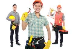 Groep professionele mannelijke ingenieur Stock Fotografie