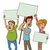 Groep protesteerders royalty-vrije illustratie