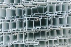 Groep pvc-secties voor vensters Stock Fotografie