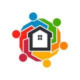 Groep Real Estate-Mensen Het ontwerp van de illustratie Stock Foto