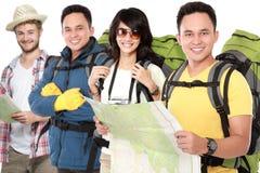 Groep reiziger stock afbeelding