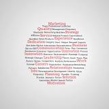 Groep rode marketing termijnen Royalty-vrije Stock Foto's