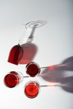 Groep rode wijnglazen Royalty-vrije Stock Foto's