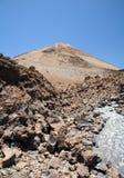 Groep rotsen onderaan de vulkaan Royalty-vrije Stock Foto's