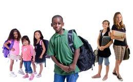 Groep schooljonge geitjes Stock Foto