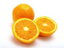 Groep sinaasappelen Stock Afbeeldingen