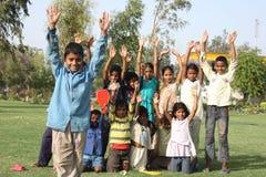 Groep slechte kinderen in Delhi, India Stock Fotografie