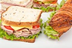 Groep smakelijke sandwiches Stock Afbeeldingen