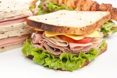 Groep smakelijke sandwiches Stock Foto's