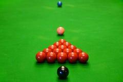 Groep Snookerballen op Lijst Royalty-vrije Stock Fotografie