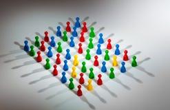 Groep sociale netwerkcijfers Stock Foto