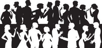 Groep sprekende mensen Stock Foto