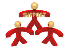 Groep steun Stock Foto's