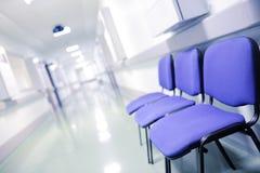 Groep stoelen in de medische bouw stock fotografie