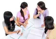 Groep student het bestuderen stock fotografie