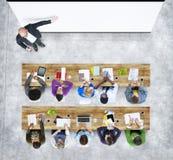 Groep Student Studying Photo Illustration Stock Fotografie