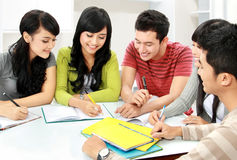 Groep studenten stock foto