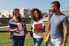 Groep studenten in campus Stock Afbeelding