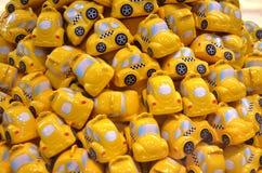 Groep stuk speelgoed taxi Stock Foto