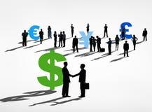 Groep Succesvolle Bedrijfsmensenovereenkomst Stock Foto's