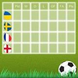 Groep talbe voetbal Stock Foto's