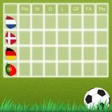 Groep talbe voetbal Royalty-vrije Stock Fotografie