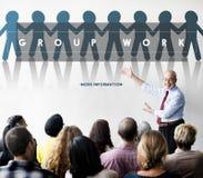 Groep Team Work Organization Concept Stock Afbeelding