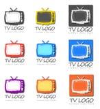Groep Televisie Logo Designs Stock Foto