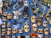 Groep theatrale maskers Stock Afbeelding