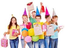 Groep tienermensen. Stock Foto's