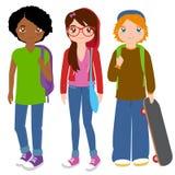Groep tienerstudenten vector illustratie