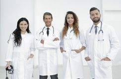 Groep vaklieden van het medische centrum Stock Foto