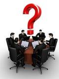 Groep van de zes businessmanswerken stock illustratie