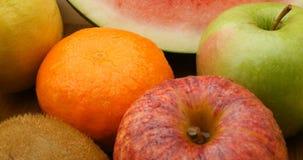 Groep van het fruit de natuurlijke zoete healthly voedsel stock footage