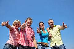 Groep van vier vrienden royalty-vrije stock foto's
