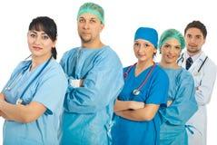 Groep verschillende artsen stock afbeeldingen