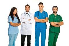 Groep verschillende artsen stock fotografie