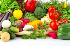 Groep verschillende groenten stock fotografie