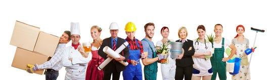 Groep verschillende profesions stock afbeelding