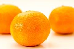 Groep verse gehele mandarijntjes Stock Foto's