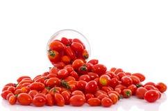 Groep verse tomaten stock foto