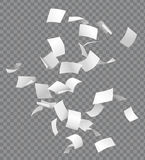 Groep vliegende of dalende Witboeken trans Stock Afbeelding