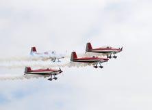 Groep vliegtuigen Stock Foto