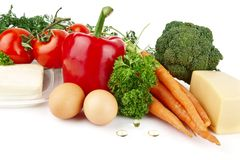 Groep voedingsmiddelenhoogtepunt van vitamine A Royalty-vrije Stock Fotografie