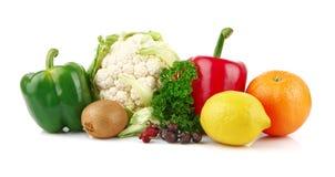 Groep voedingsmiddelenhoogtepunt van vitamine C royalty-vrije stock afbeelding